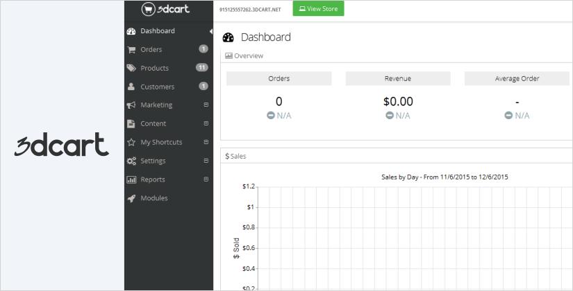 3dcart best ecommerce platform and software