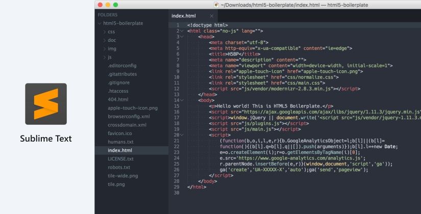 sublime text html editor list 2018