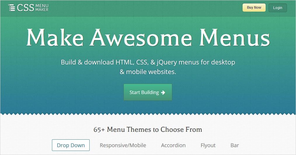 CSS Menu builders