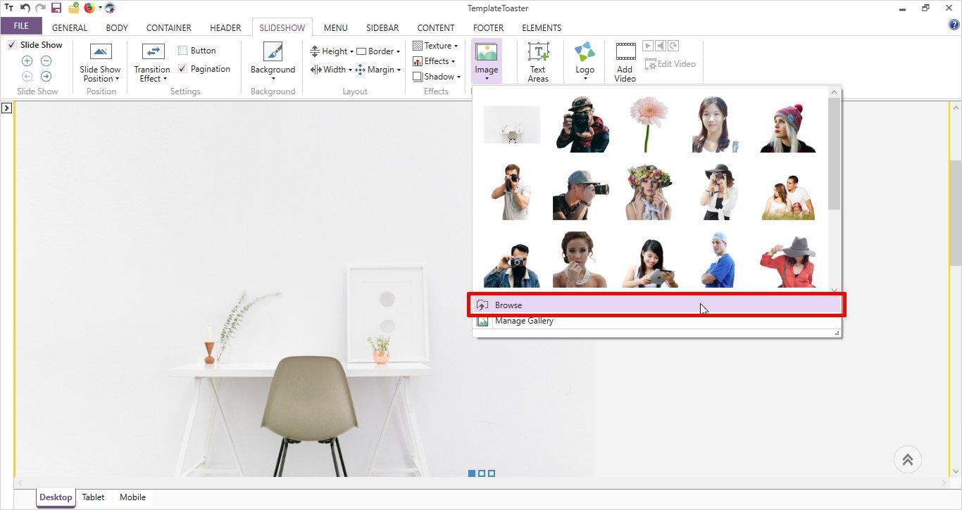 foreground image slideshow templatetoaster