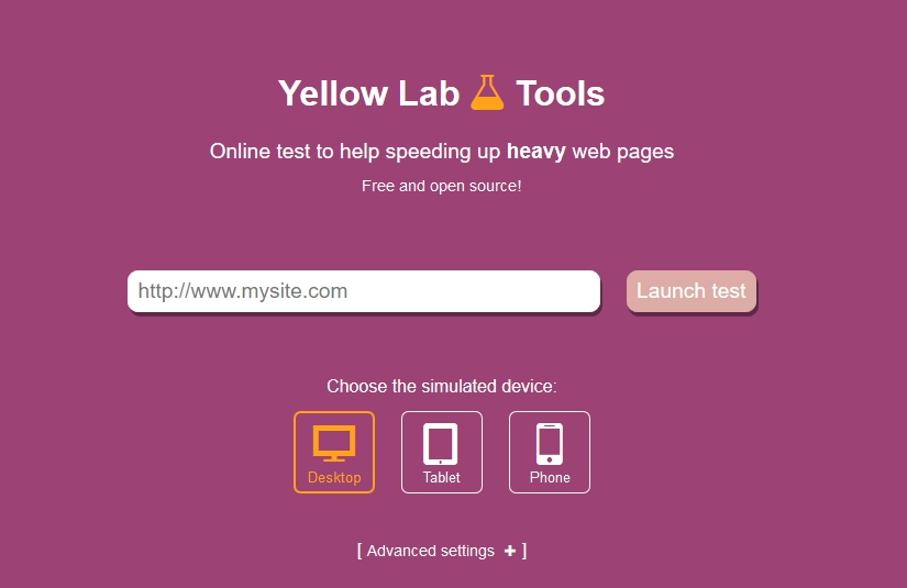 yellow web page 35 free website speed test tools