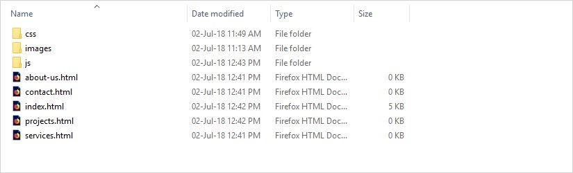html root files and folders
