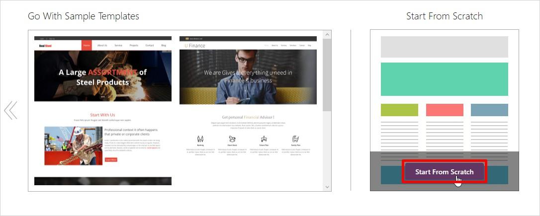 html start from scratch templatetoaster