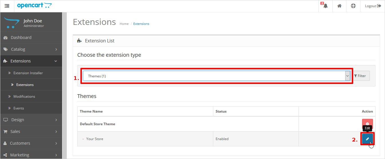How to create opencart theme tutorial for beginners opencart edit theme option maxwellsz