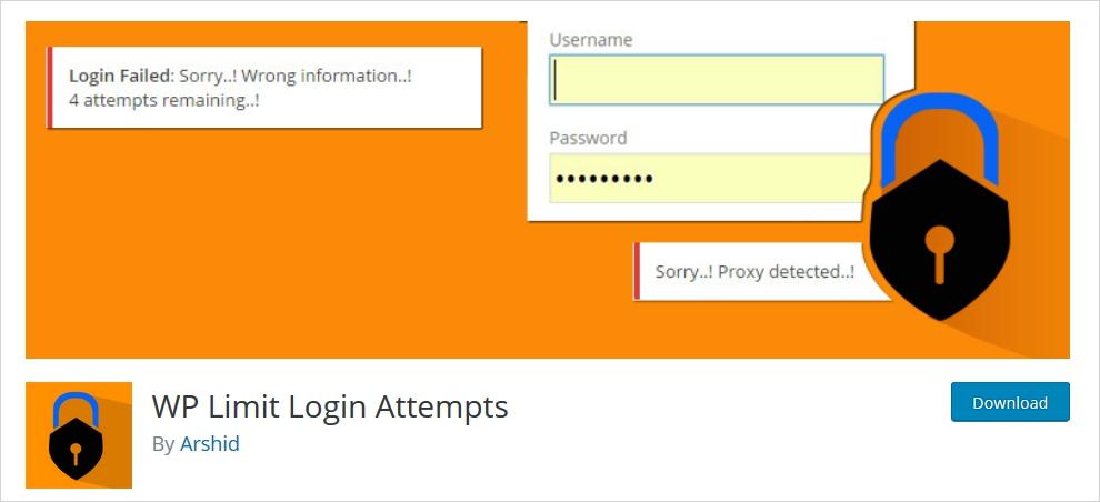 wp-limit-login attempts WordPress Brute Force Protection Plugin