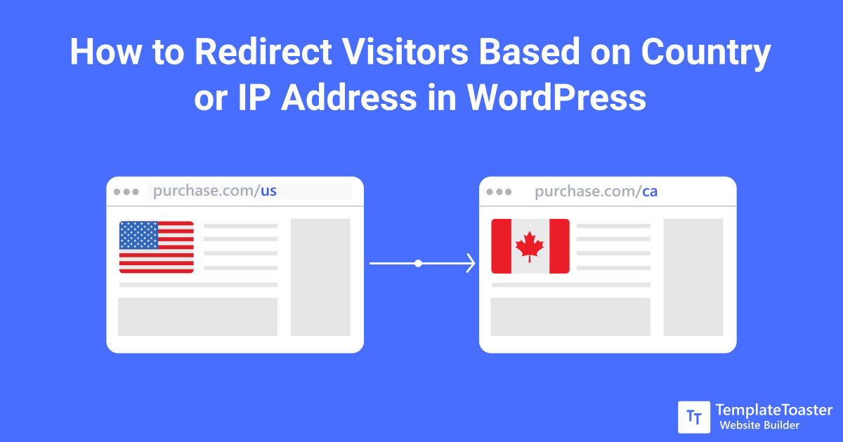 How to redirect visitors based on country or ip address in for Wp template redirect