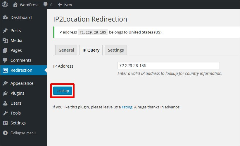ip query ip redirection tool plugin