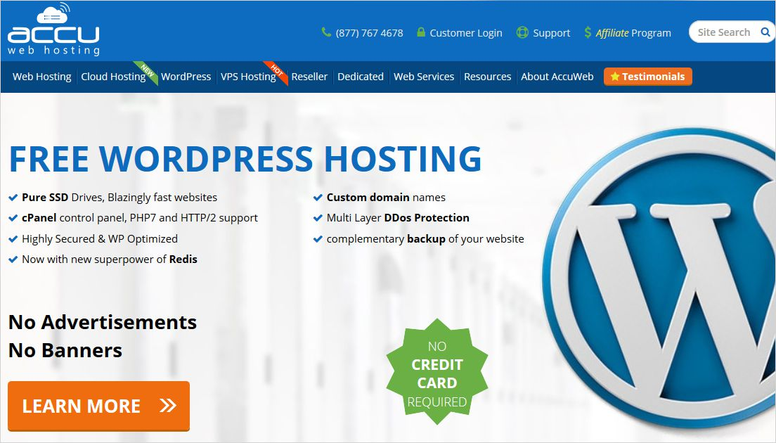 AccuWeb Hosting Free WordPress Hosting