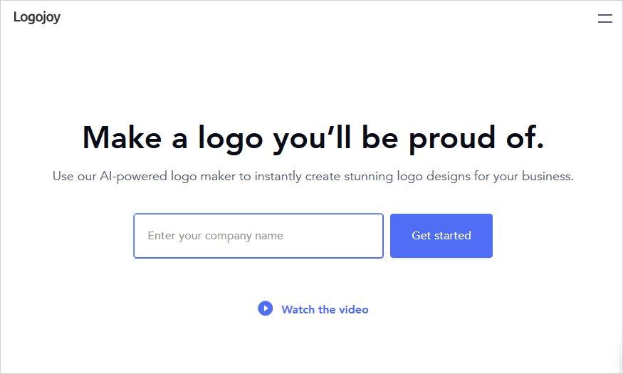 logojoy Free logo maker