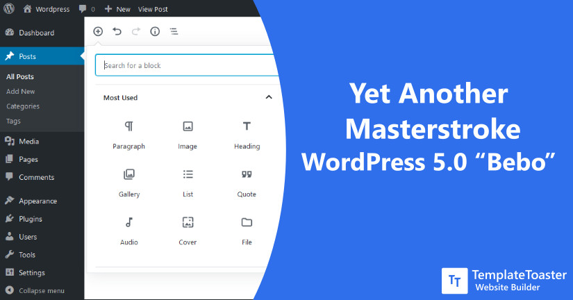 "Yet Another Masterstroke WordPress 5.0 ""Bebo"""