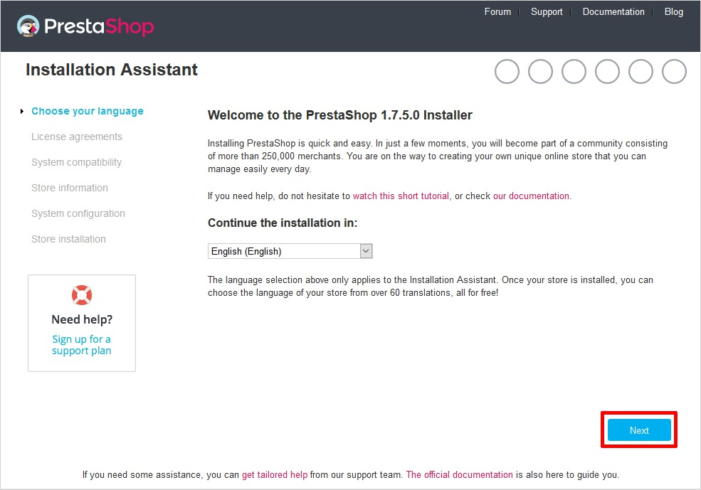 Install PrestaShop Manually