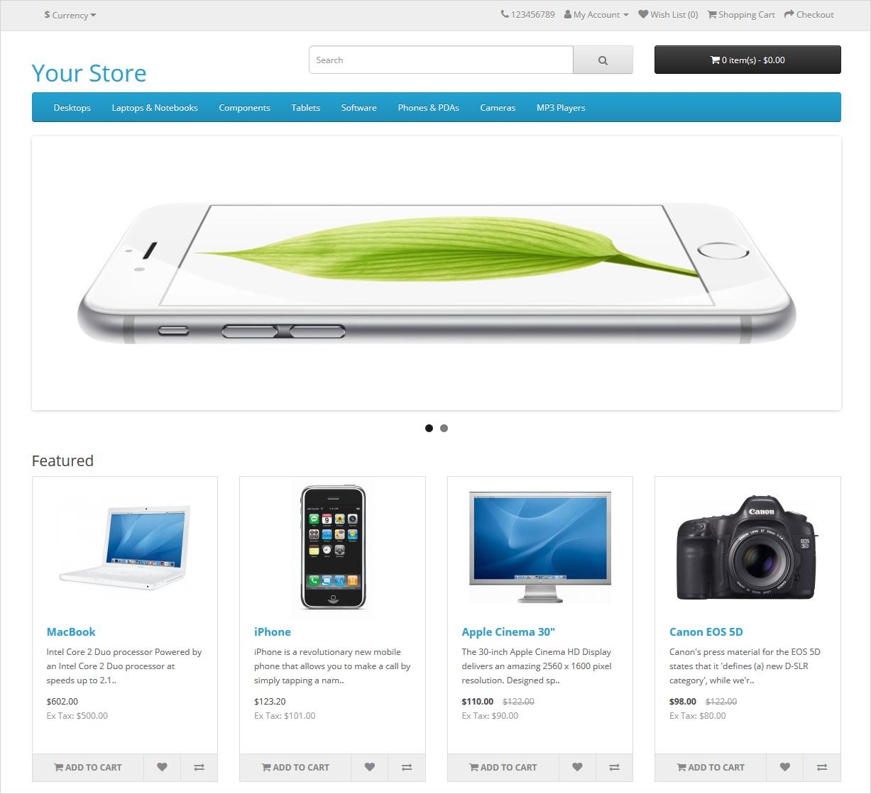 opencart storefront