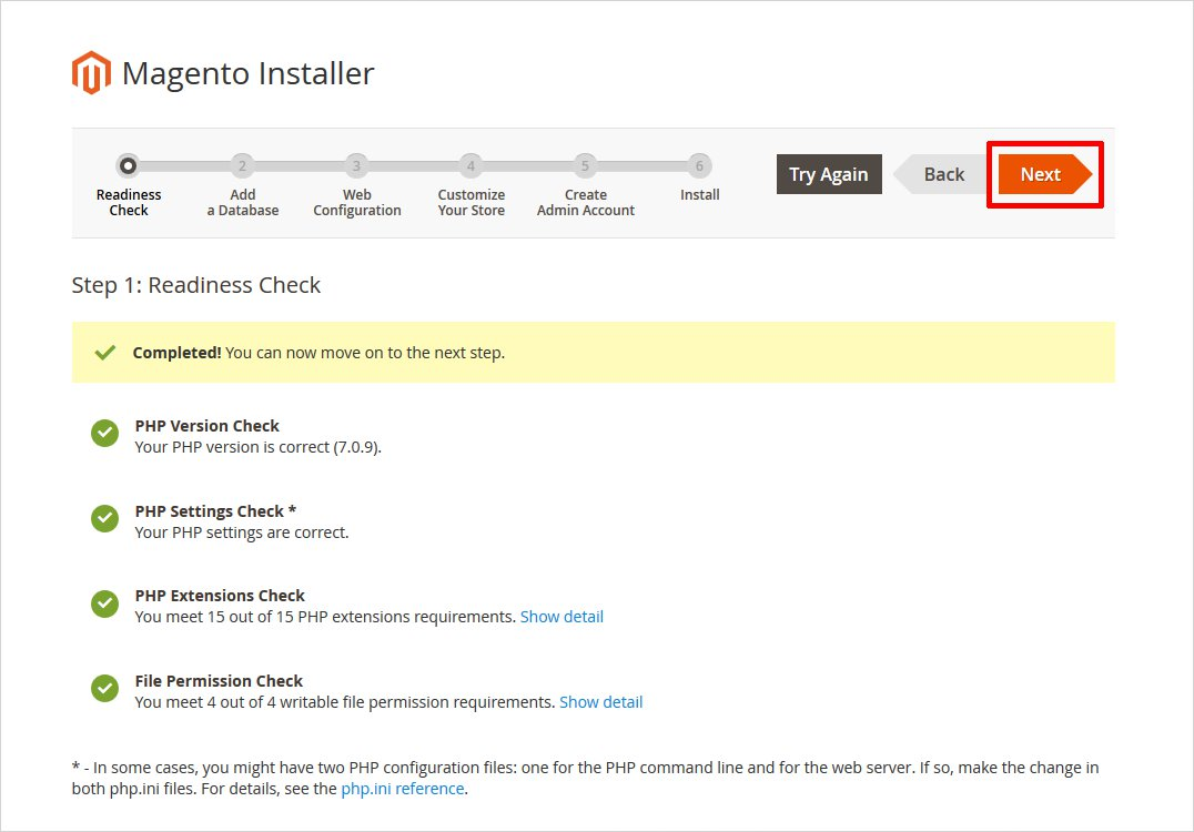 readiness check before installing magento