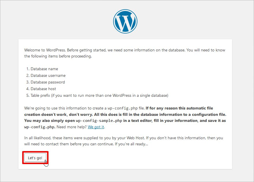 step by step guide to install wordpress