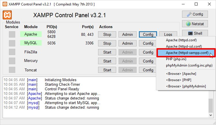 How to change PHP version in XAMPP