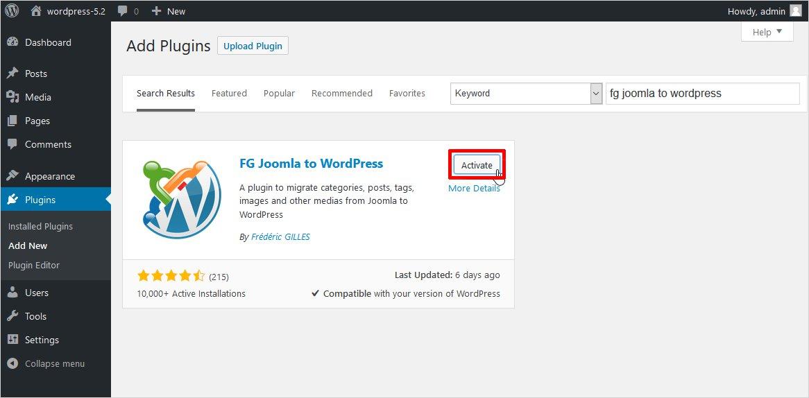 How to migrate Joomla to WordPress