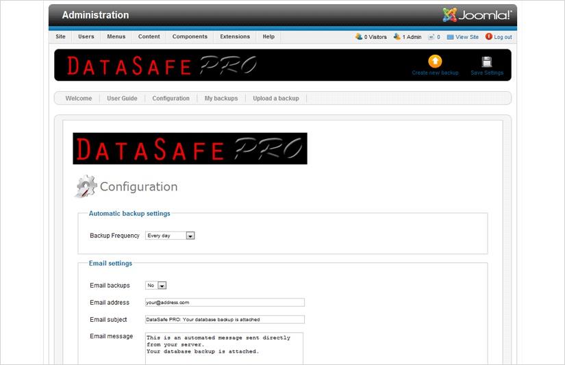 DataSafe Pro Joomla Backups Extension