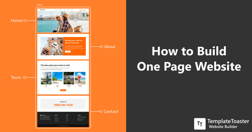 Create One Page Website