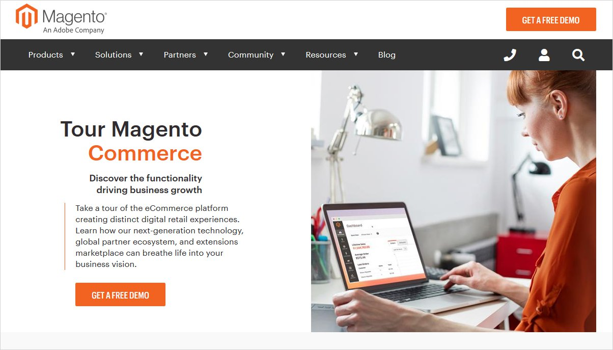 magento open source cms