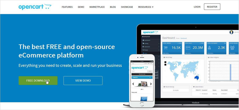 opencart open source cms