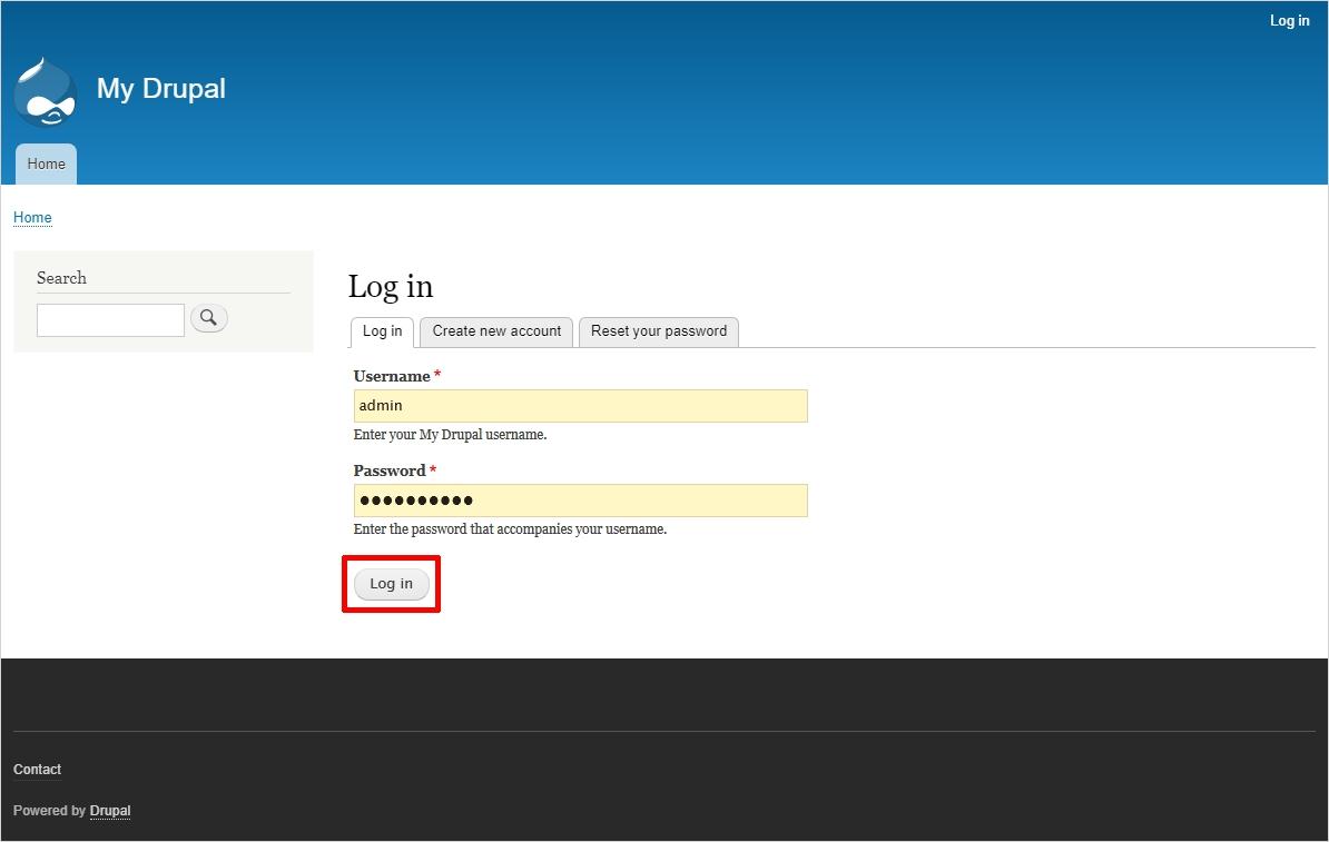 Login to Drupal to Add Webform