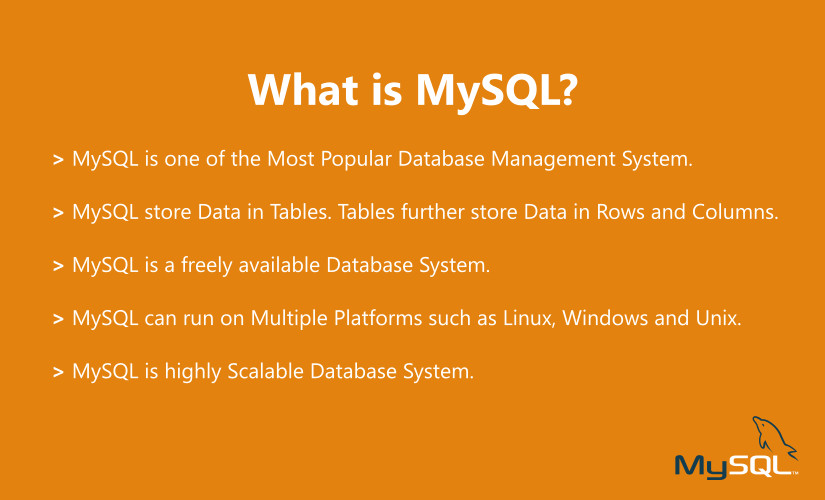 features of mysql