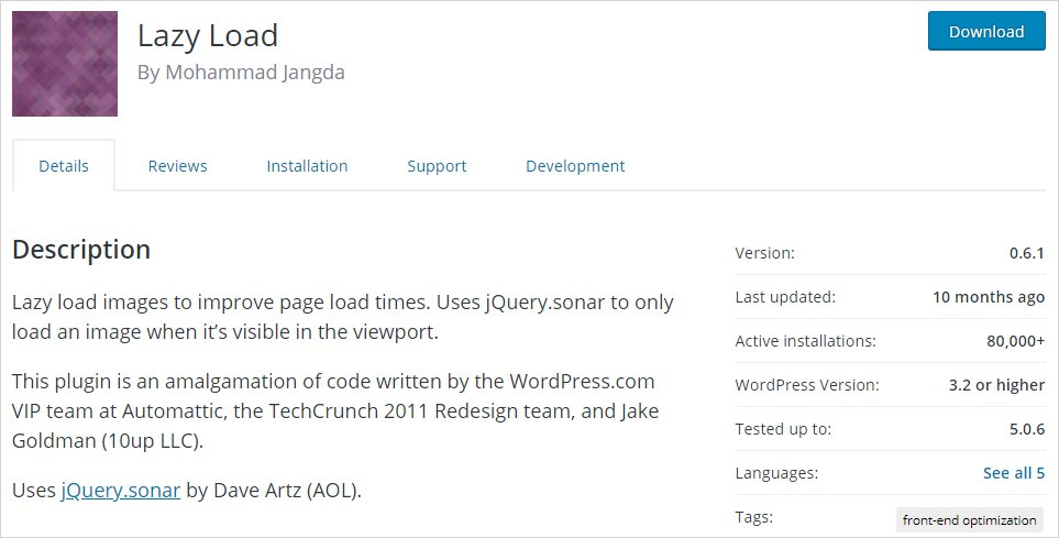 Lazy Load WP Plugin