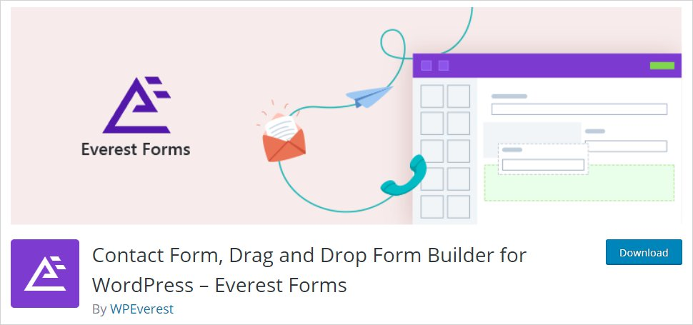 everest forms drag and drop WordPress form builder plugin