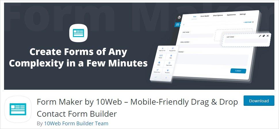 form maker wordpress form builder plugin