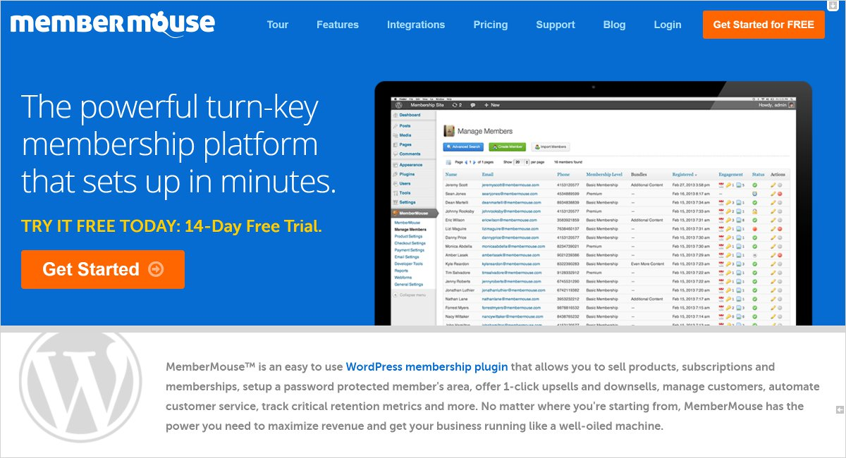 membermouse membership wordpress plugin