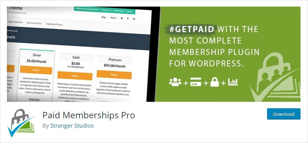 paid memberships pro membership wordpress plugin
