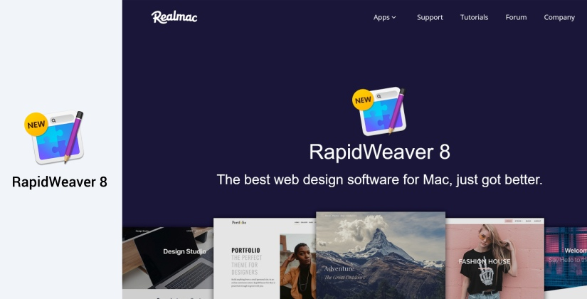 rapidweaver website design software