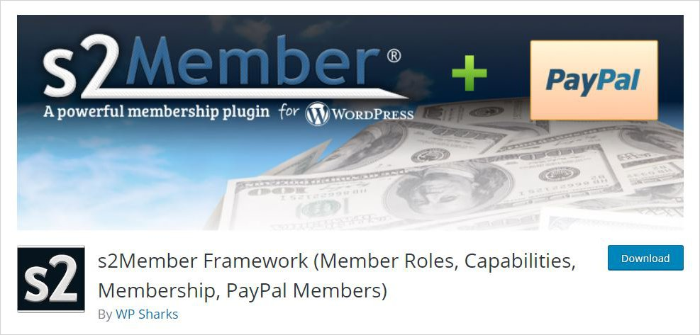 s2member framework membership wordpress plugin