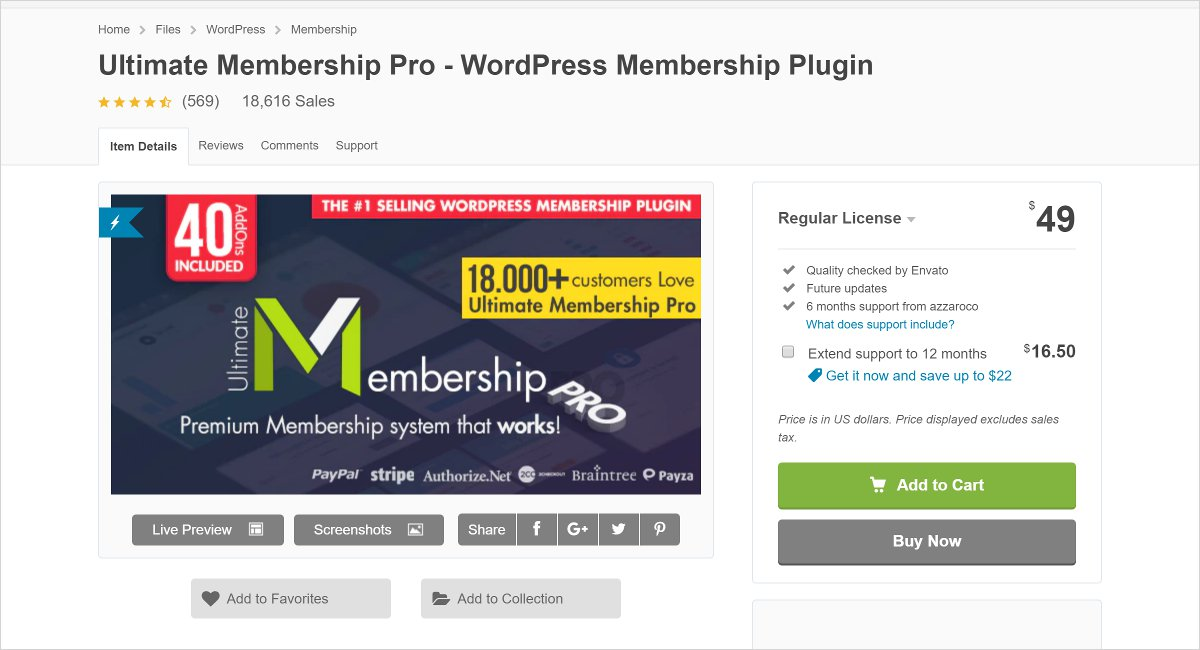 ultimate membership pro membership wordpress plugin