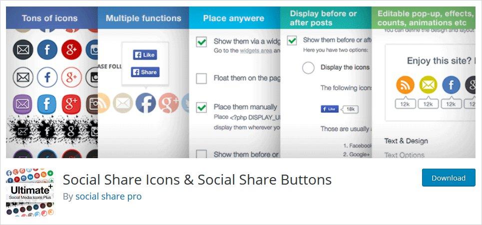 ultimate social share wordpress plugin
