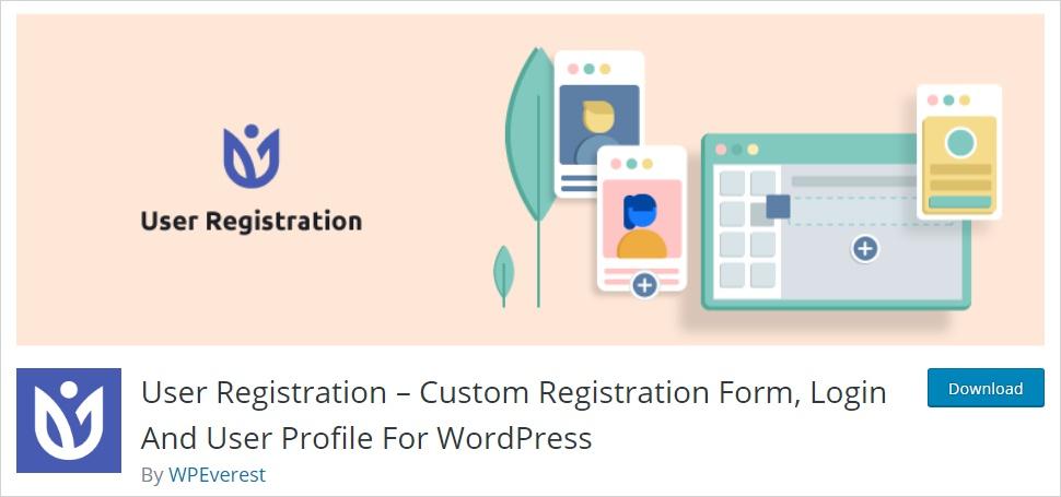user registration wordpress form builder