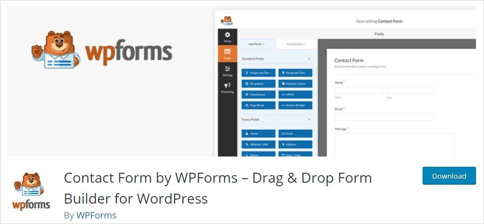 wpforms wordpress form builder plugin