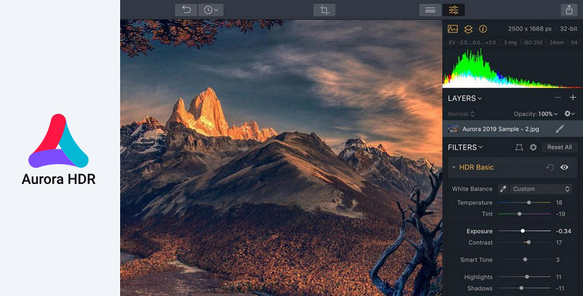 Aurora HDR photo editing tool
