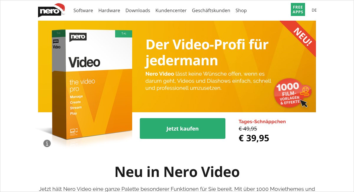 Nero Video Editing Software