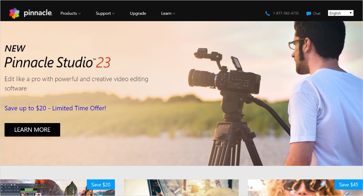Pinnacle Studio 23 video editing software