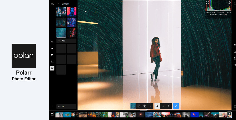 Polarr photo editing software