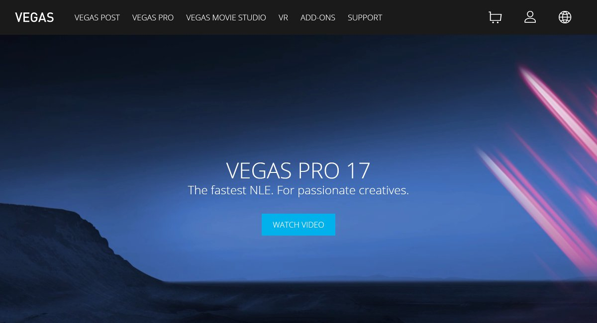 vedio editing software for Videographers