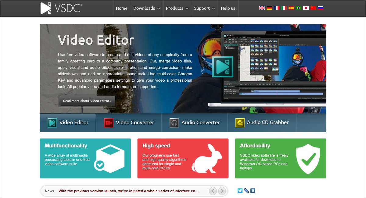 VSDC Video Editor software