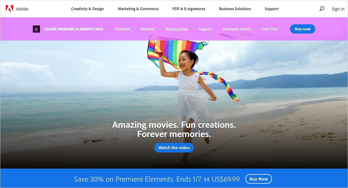 adobe premiere elements video editing software
