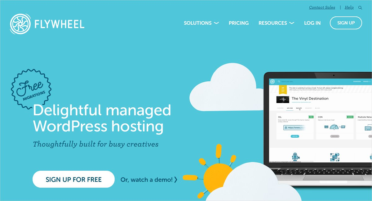 flywheel wordpress hosting service