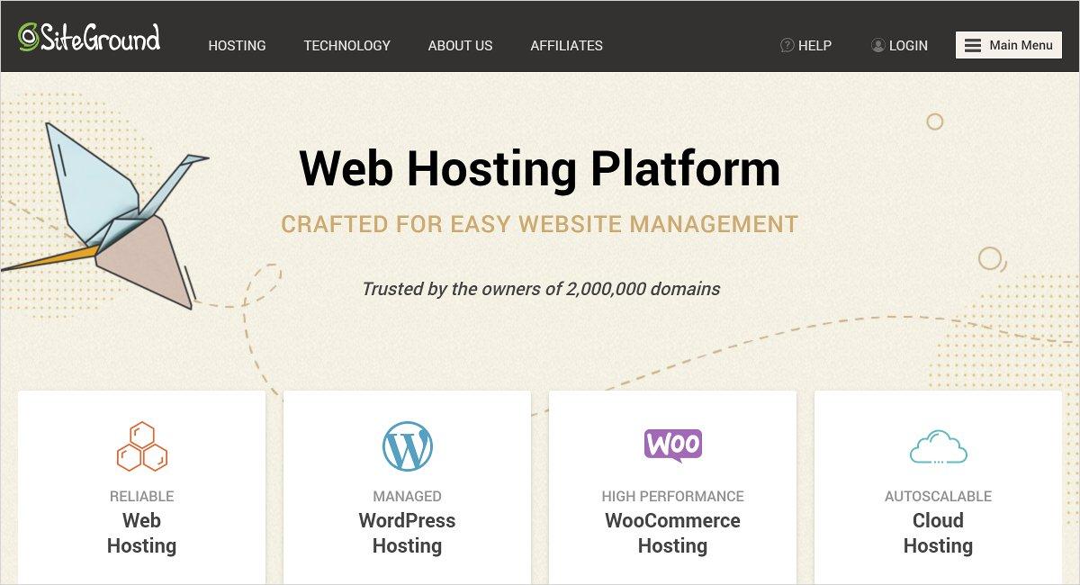 siteground Joomla hosting service