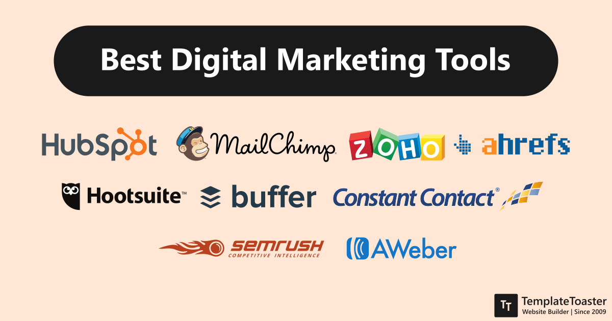 Digital Marketing Tools List - TemplateToaster Blog