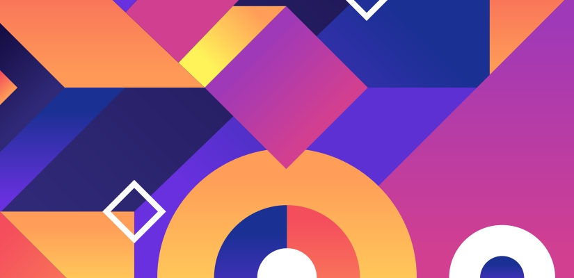 Geometry shapes web design trends 2020
