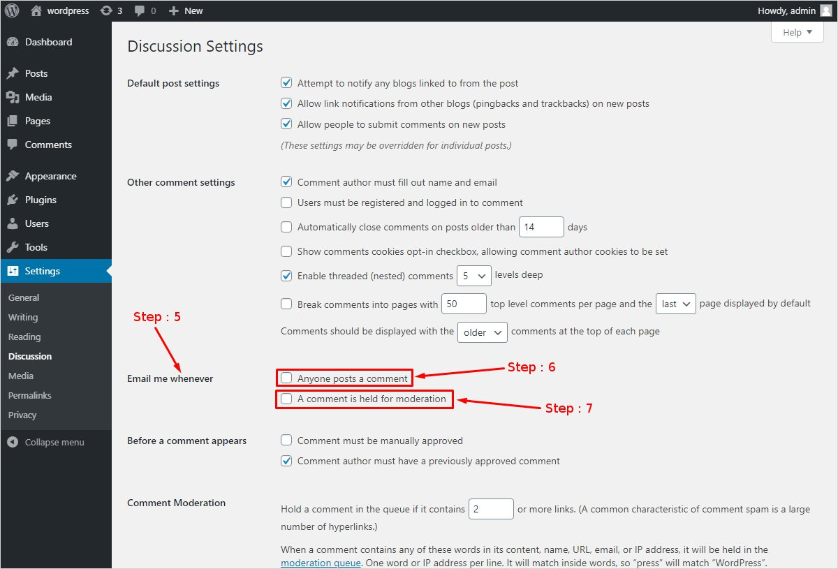 Simple way to Disable WordPress Comment emails