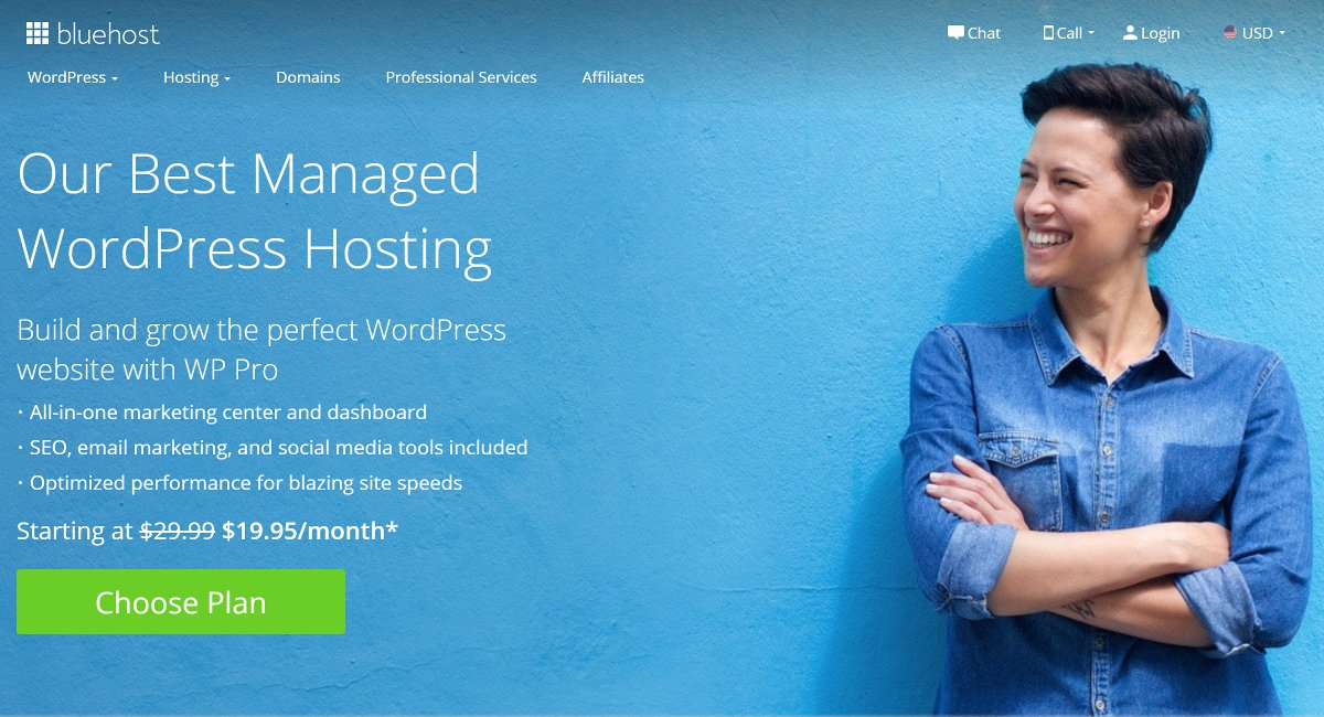 bluehost WordPress managed hosting review